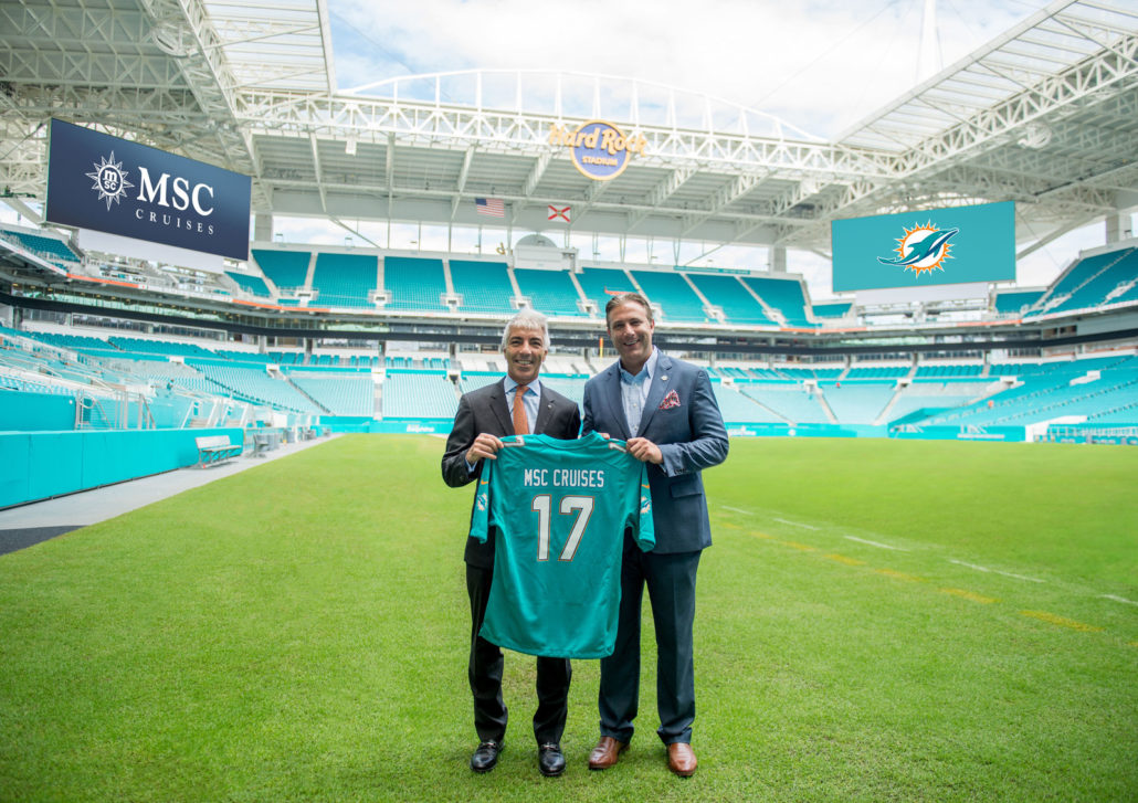 Msc Cruises Becomes The Official Cruise Line Of The Miami Dolphins Pro Dance Cheer