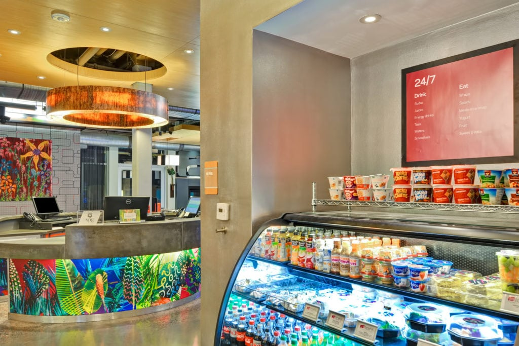 Aloft Phoenix Airport Lobby Photo Commonwealth Hotels Llc