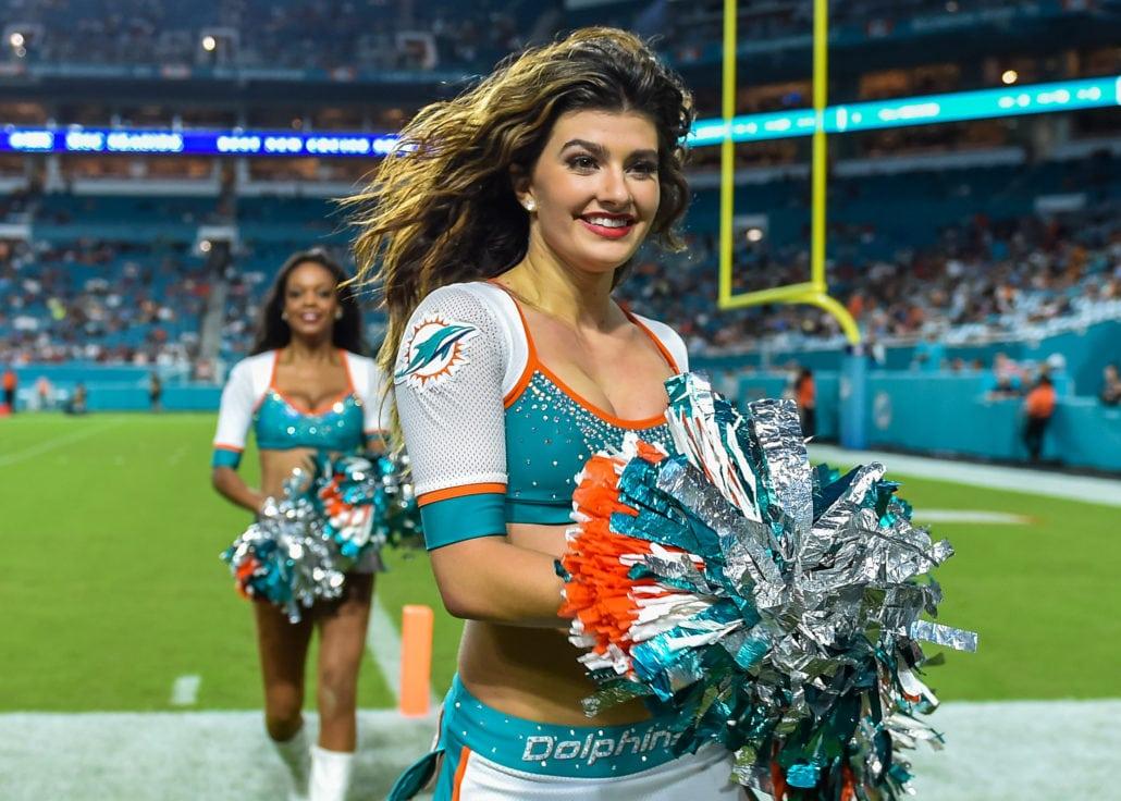934b0dbc Miami Dolphins Cheerleaders 2018 Pre-Season - Pro Dance Cheer