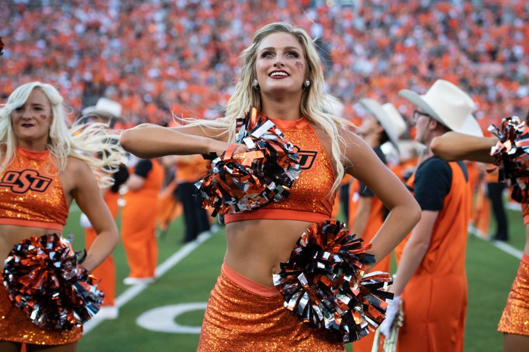 College Football Cheerleaders Dancers 2018 Week One Photo