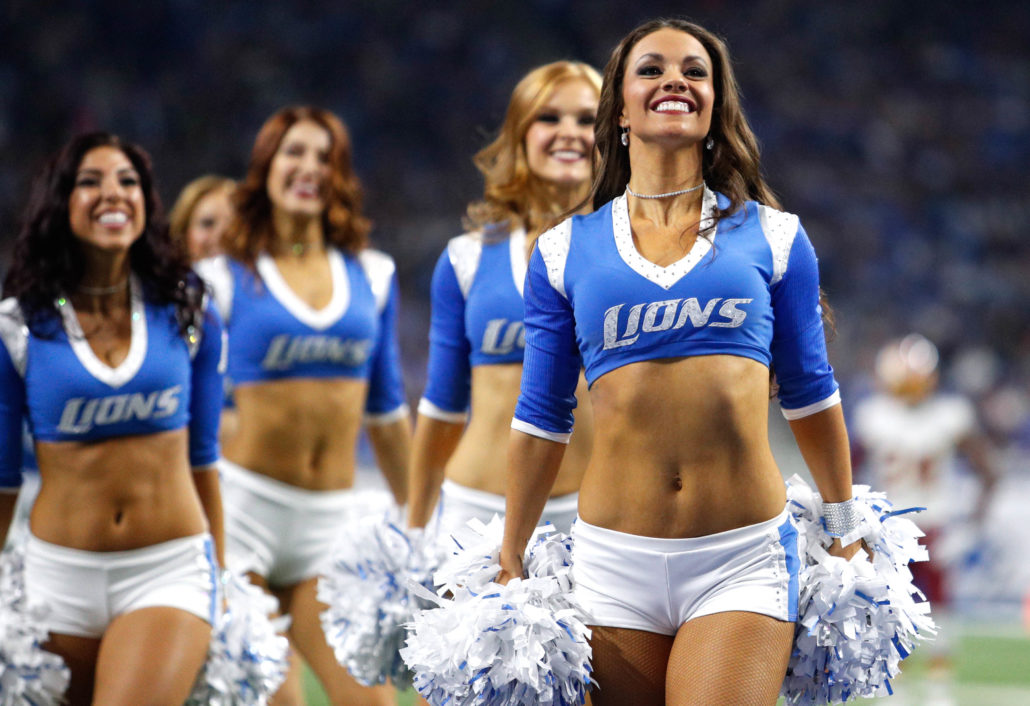 Detroit Lions Cheerleaders Photos From Lions Win Over