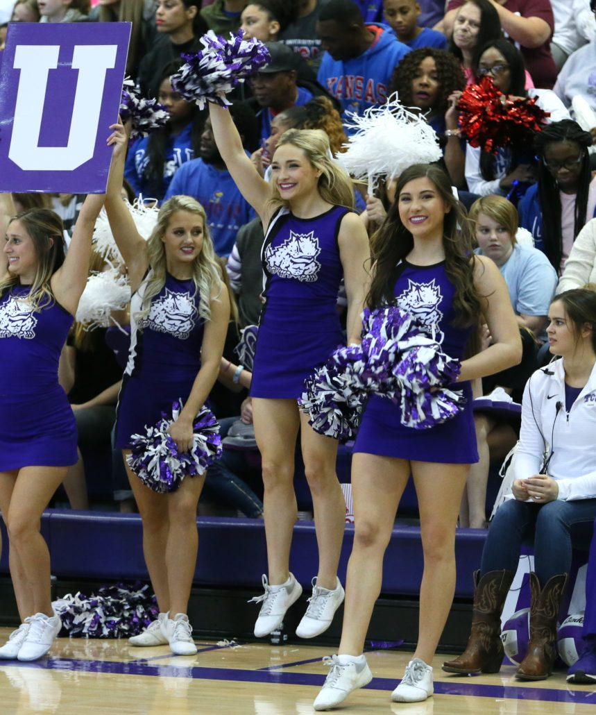 Nov. 17, 2018; Fort Worth, TX; TCU Cheerleaders At TCU