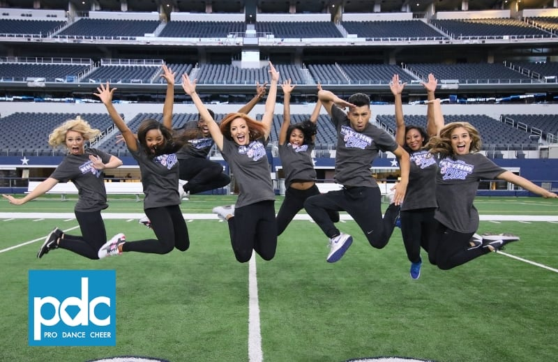be9eb3ee7a5 Dallas Cowboys & Ashley HomeStore Host 'Hope to Dream' Sleepover at AT&T  Stadiuim - Pro Dance Cheer